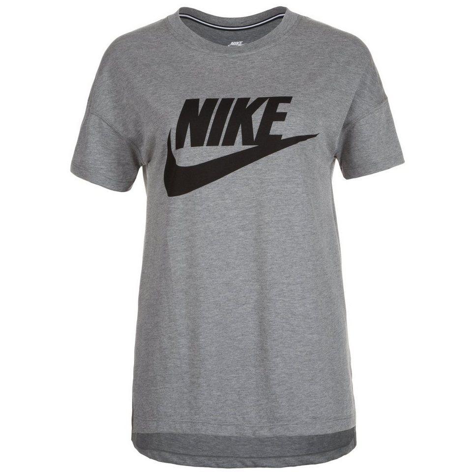 Nike Sportswear Signal T-Shirt Damen in grau / schwarz