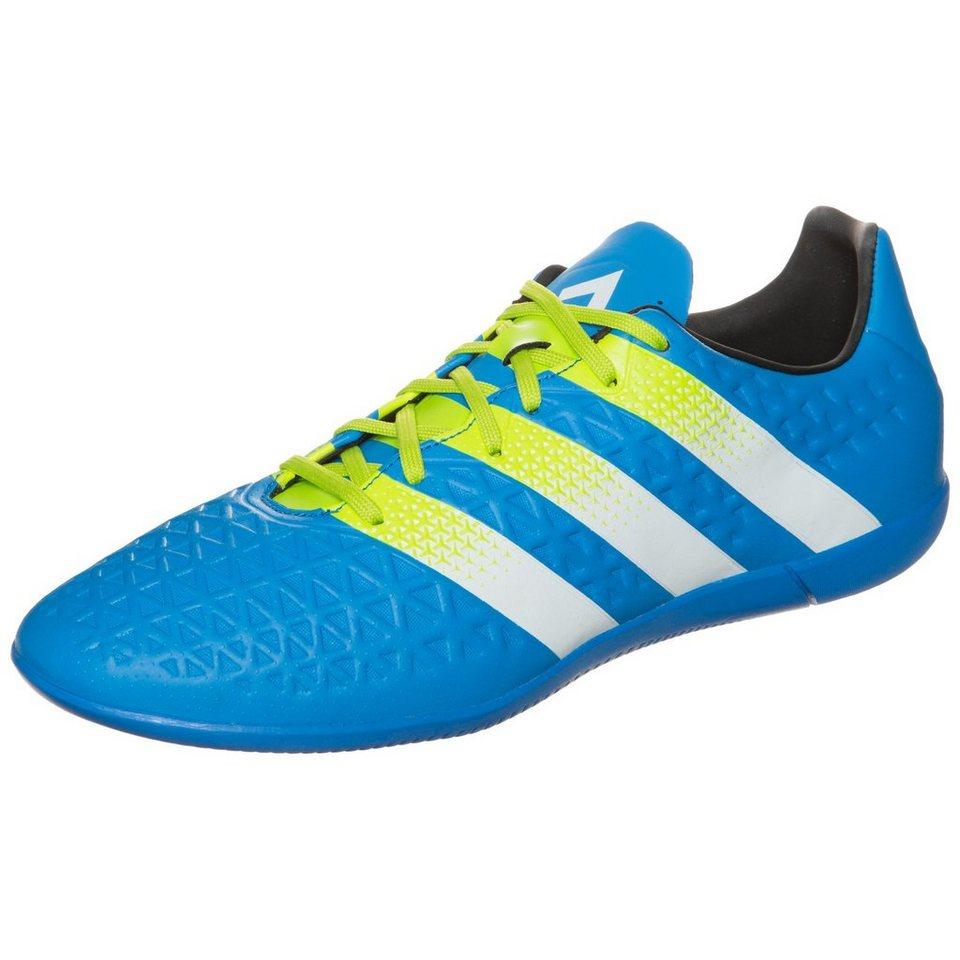 adidas Performance ACE 16.3 Indoor Fußballschuh Herren in blau / lime / weiß