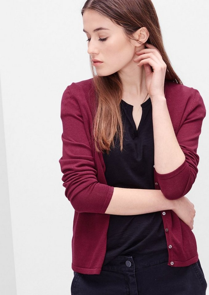 s.Oliver RED LABEL Feiner Cardigan in summer berry