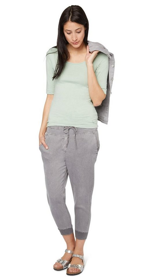 TOM TAILOR Hose »loose fit pants 7/8 length« in light frost grey