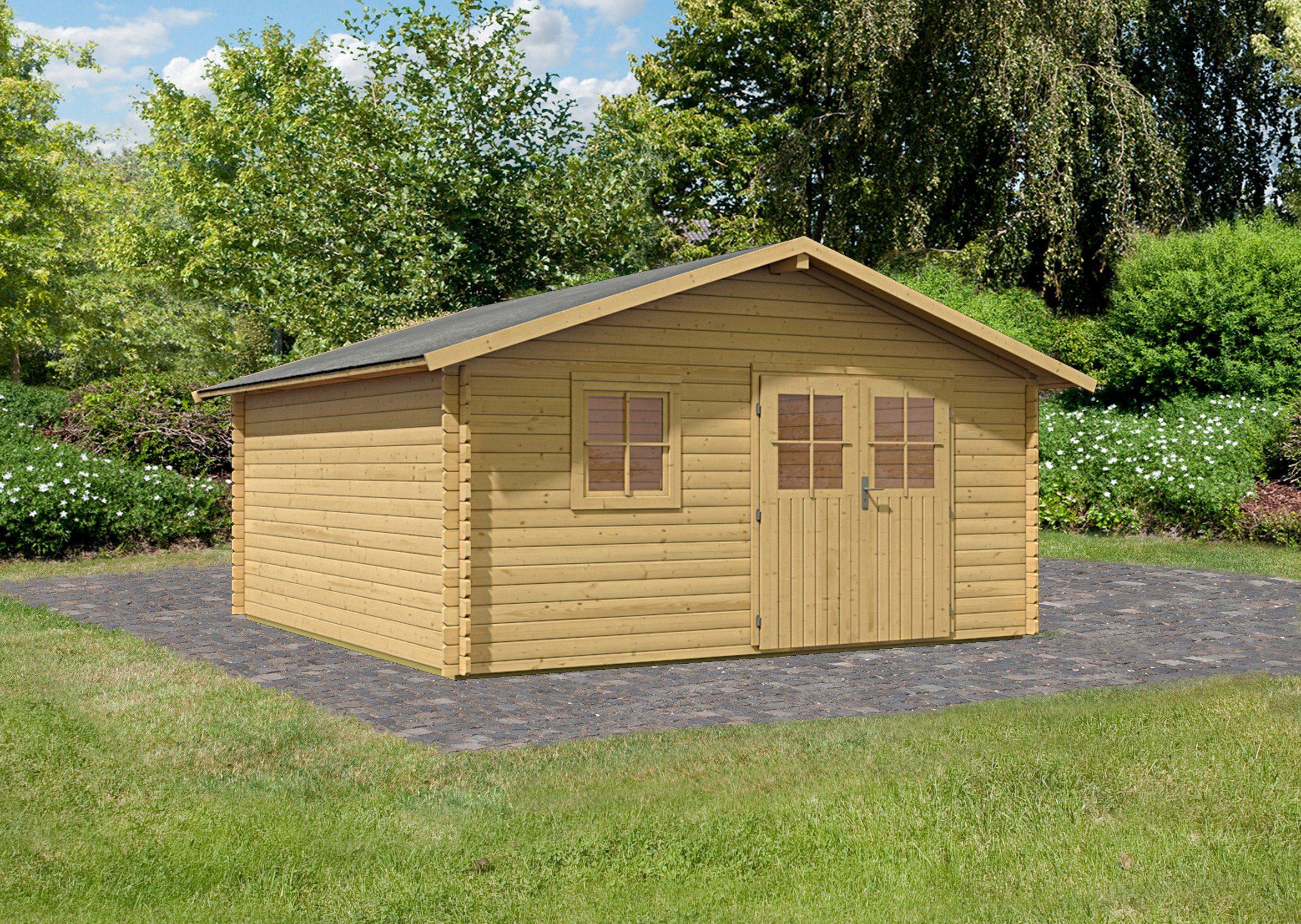 Karibu Set: Gartenhaus »Travemünde 2«, BxT: 400x400 cm