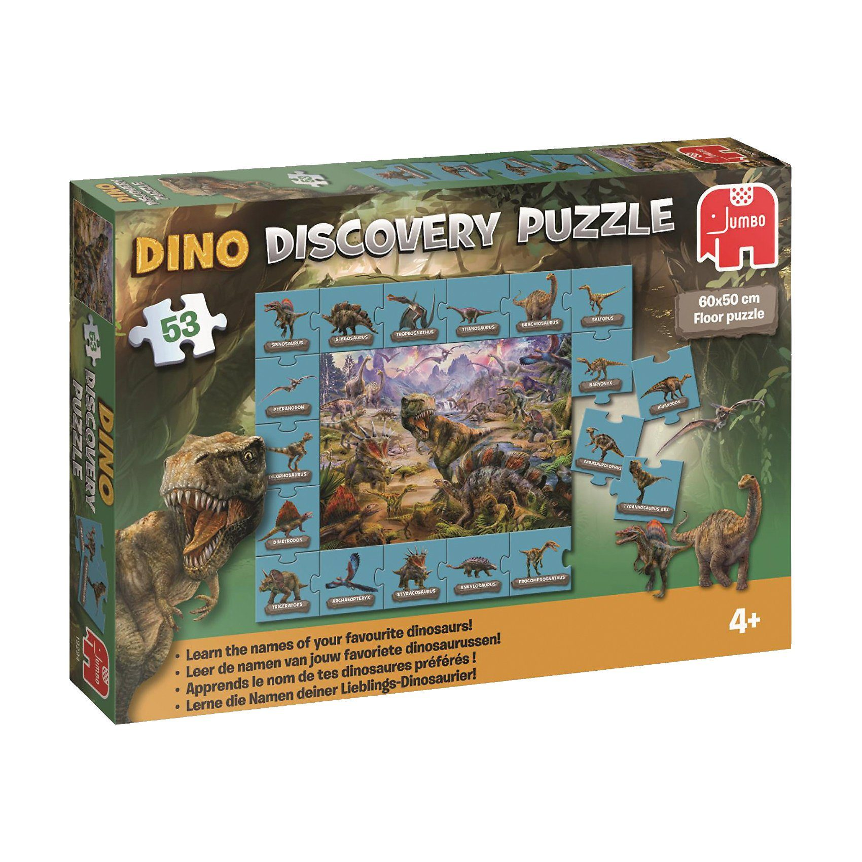 Jumbo Dinosaurier Discovery Puzzle - 53 Teile