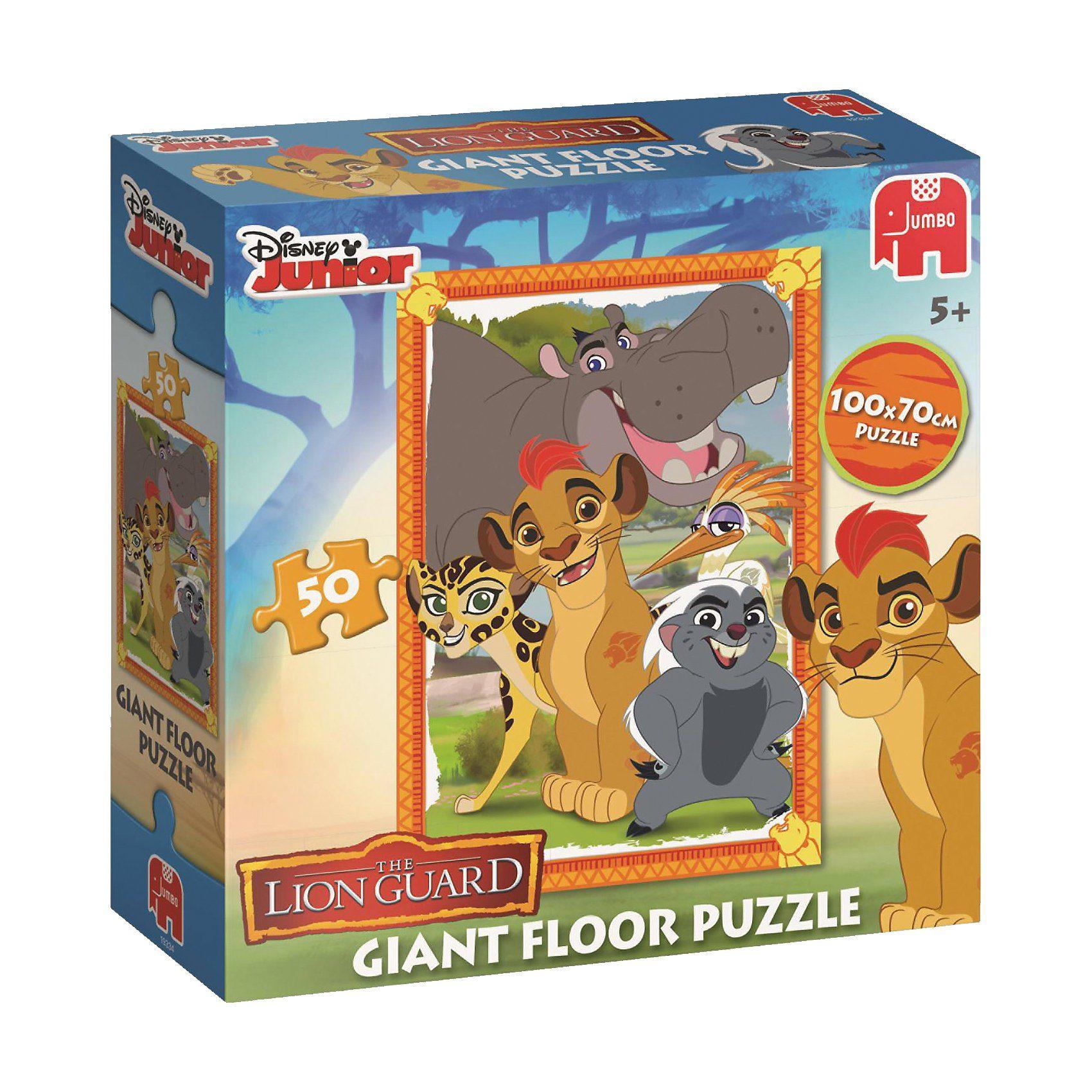 Jumbo Großes Bodenpuzzle 50 Teile - Disney Die Garde der Löwen