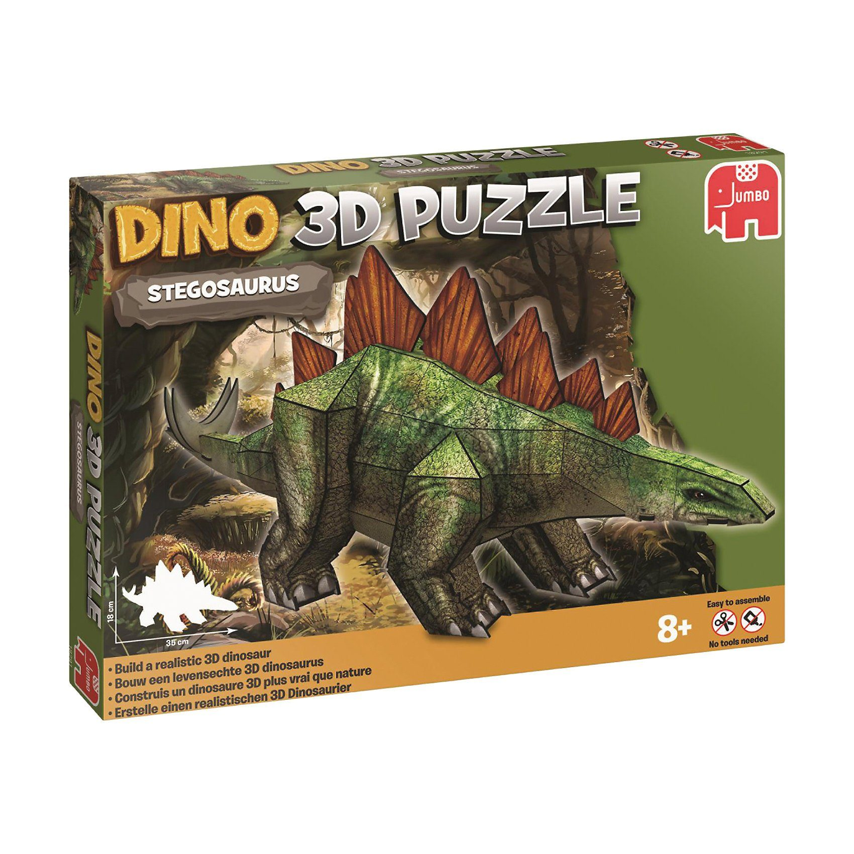 Jumbo 3D Dinosaurier Puzzle - 38 Teile - Stegosaurus