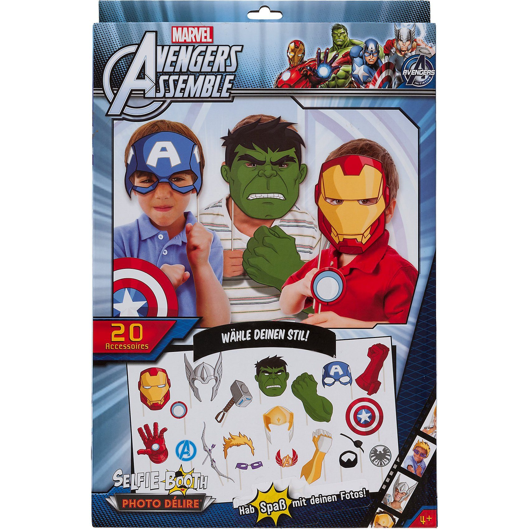 Asmodee Selfie Booth Kit Marvel Avengers