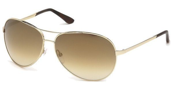 Tom Ford Herren Sonnenbrille »Charles FT0035« in 28G - gold/braun