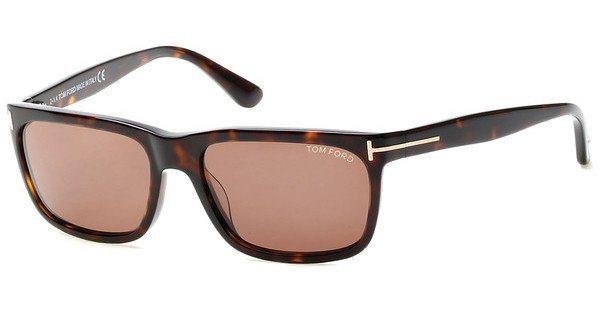 Tom Ford Herren Sonnenbrille »Hugh FT0337« in 56J - havana/braun
