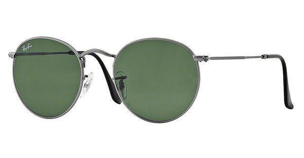 RAY-BAN Sonnenbrille »ROUND METAL RB3447« in 029 - grau/grün