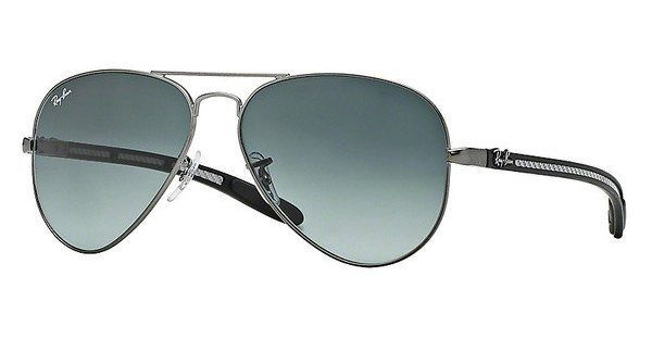 RAY-BAN Herren Sonnenbrille »AVIATOR TM CARBON FIBRE RB8307«
