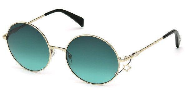 Just Cavalli Damen Sonnenbrille » JC722S« in 28P - gold/grün