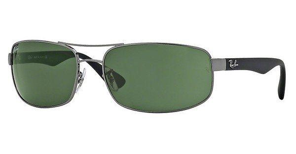 RAY-BAN Herren Sonnenbrille » RB3445« in 004 - grau/grün