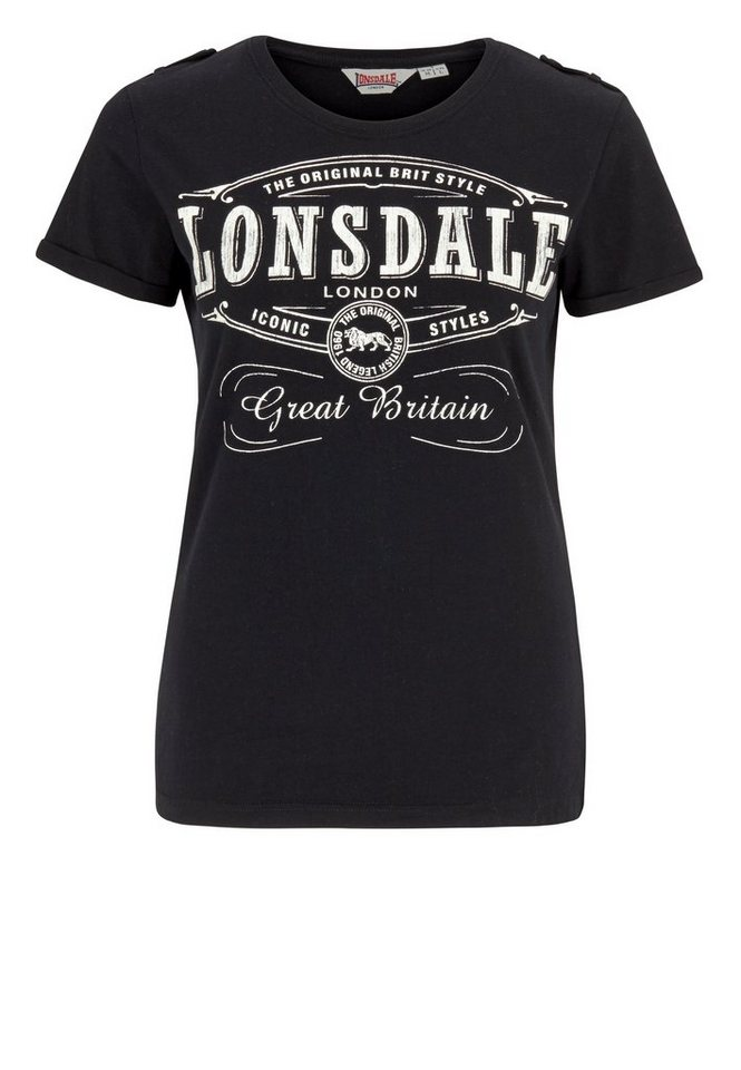 Lonsdale T-Shirt »SAINT ANNES« in Black