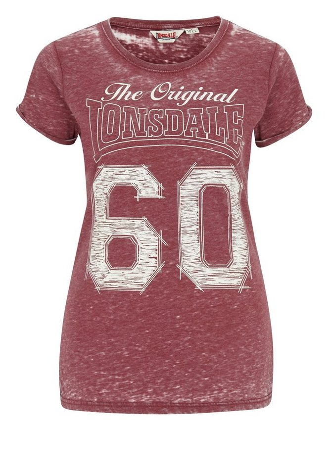 Lonsdale T-Shirt »HEANOR« in Vintage Red