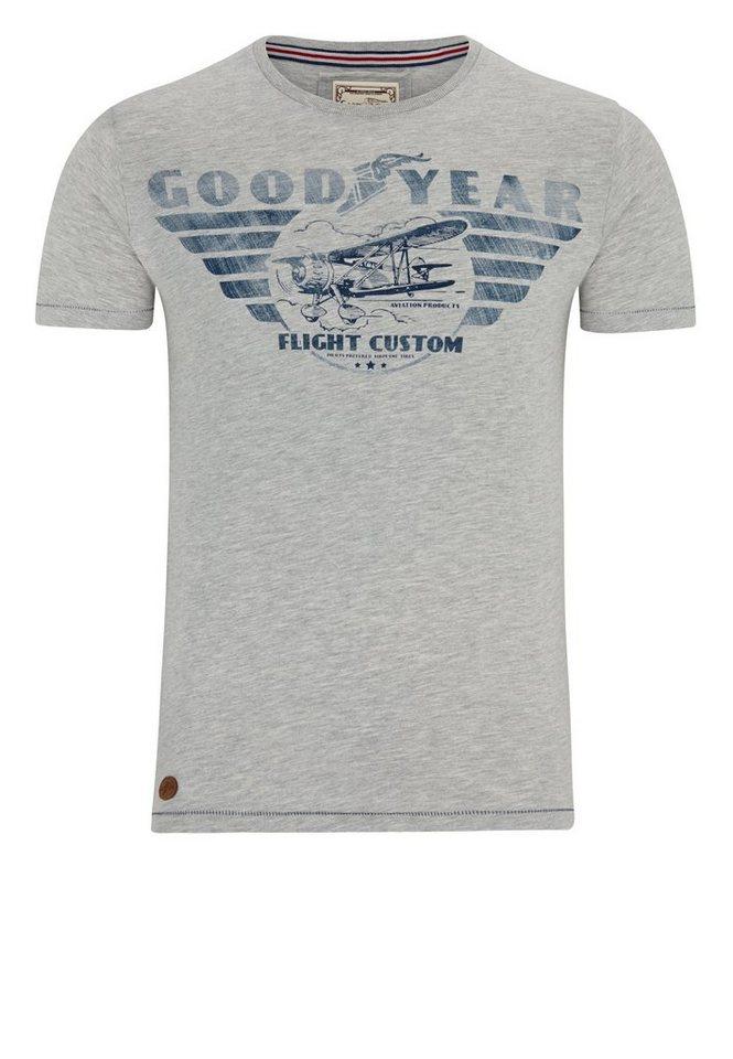 Goodyear T-Shirt in Marl Grey