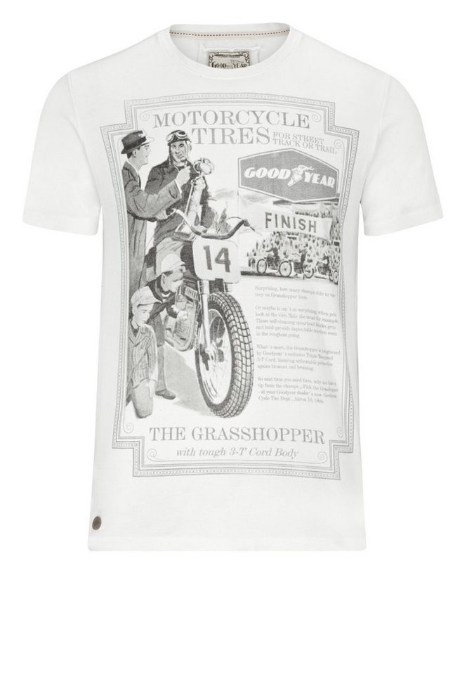 Goodyear T-Shirt »ERWIN« in Off White
