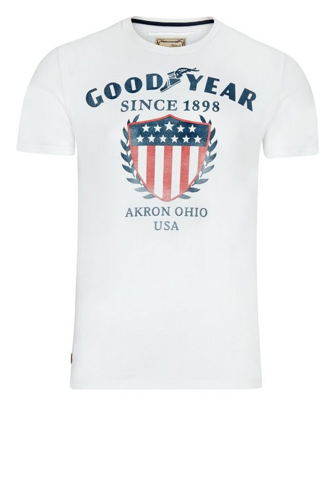 Goodyear T-Shirt »INVERNESS« in White