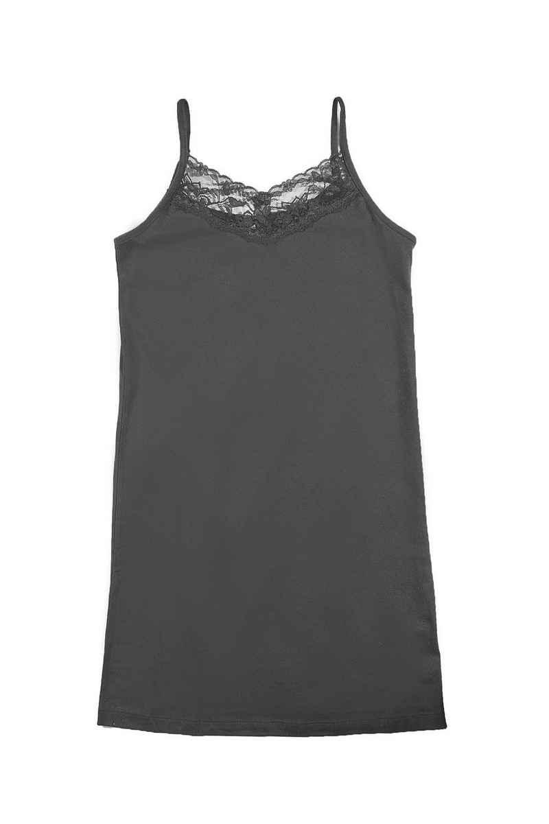 Sommerkleid »ARIZONA Kinder Spaghetti-Träger Kleid mit Spitze Freizeit-Kleid Schwarz«