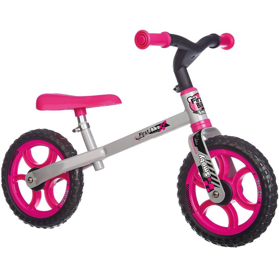 Smoby Laufrad First Bike in pink