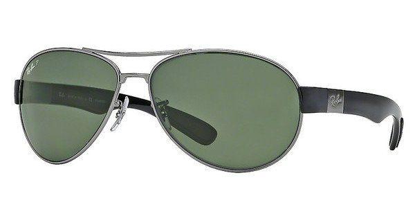 RAY BAN RAY-BAN Herren Sonnenbrille » RB3509«, grau, 004/9A - grau/grün