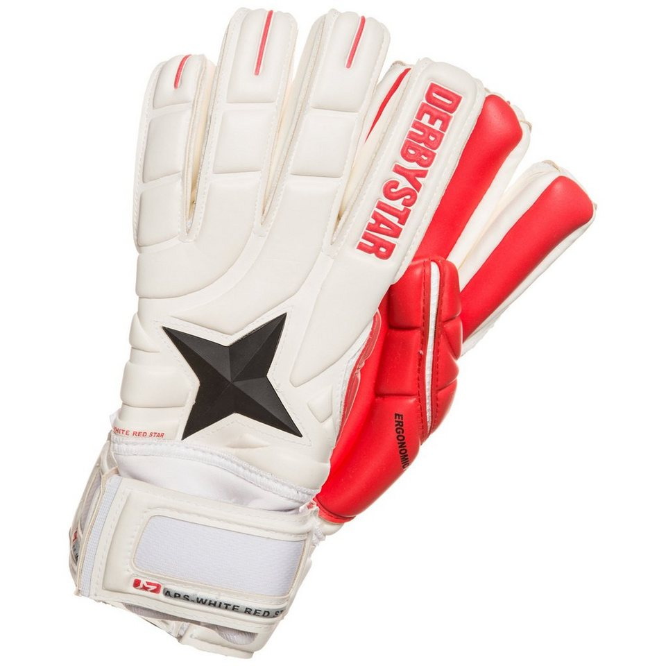 DERBYSTAR APS White Red Star Torwarthandschuh Herren in weiß / schwarz / rot