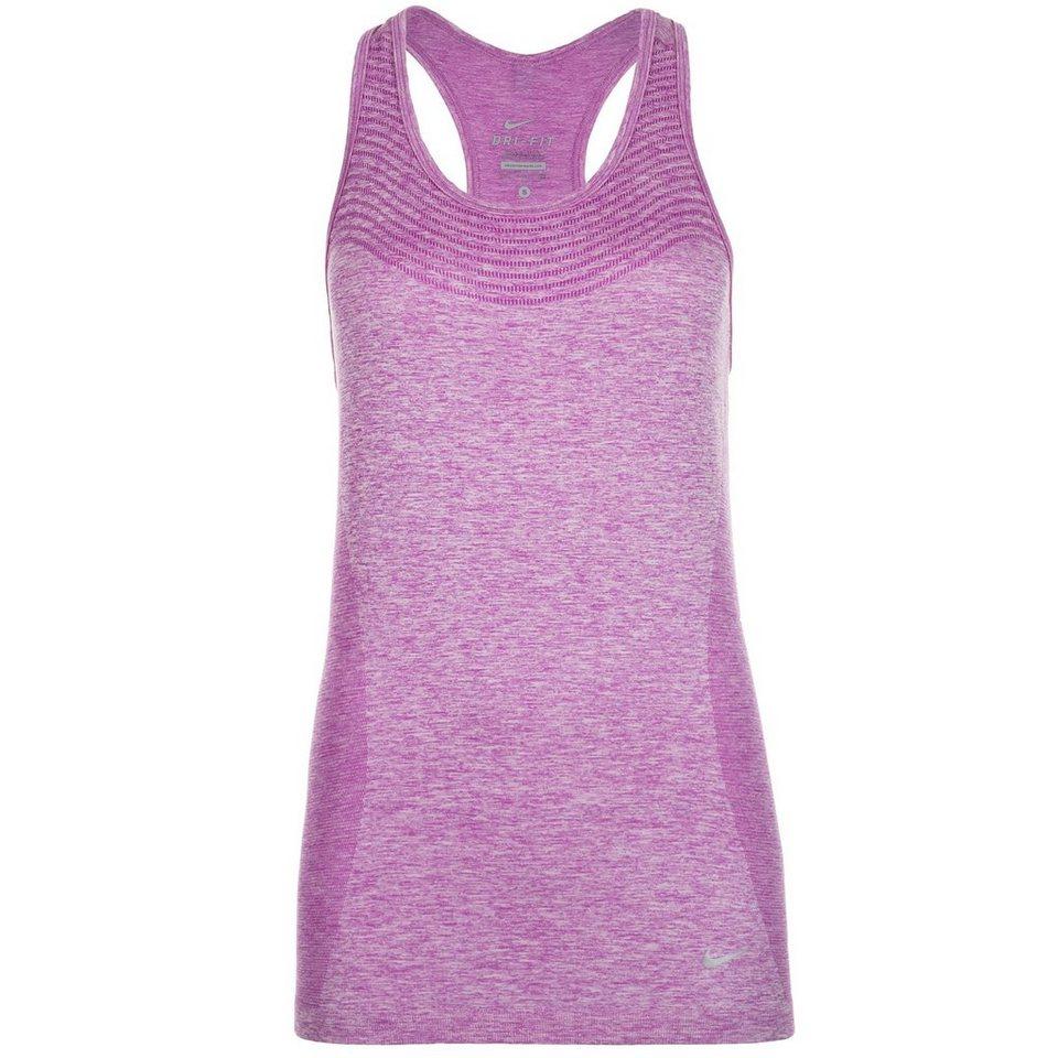 NIKE Dri-FIT Knit Lauftank Damen in violett