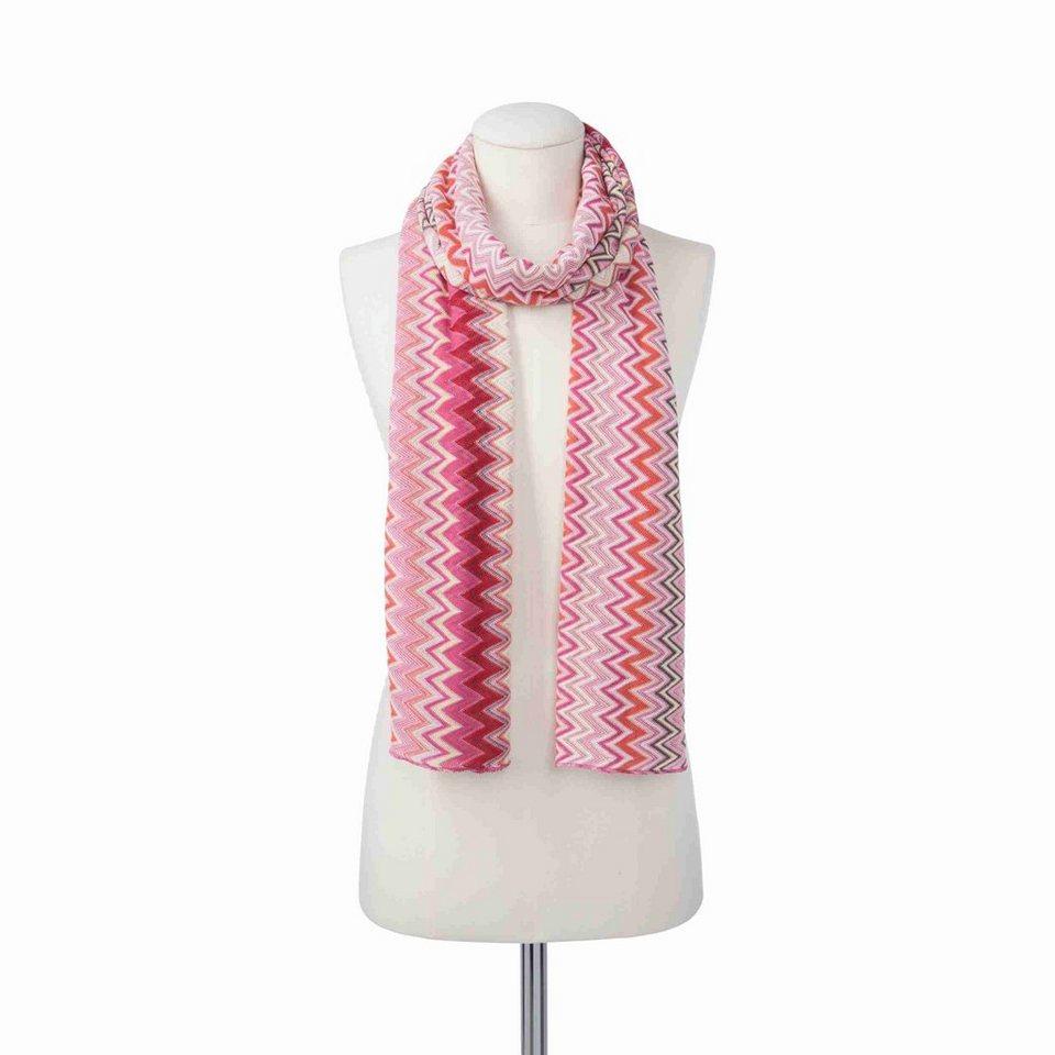 CODELLO Schal mit Zick-Zack-Muster in pink