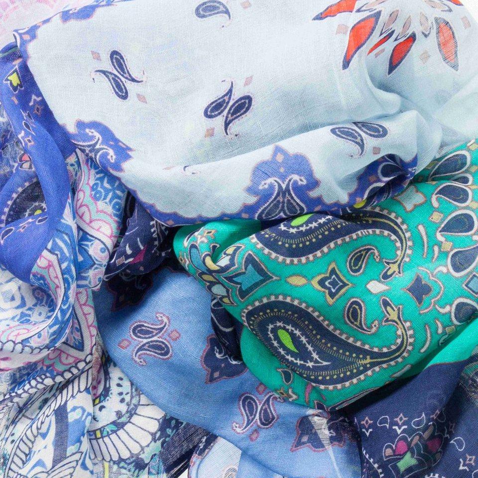 CODELLO Schal aus Leinen-Seiden-Mix in marine