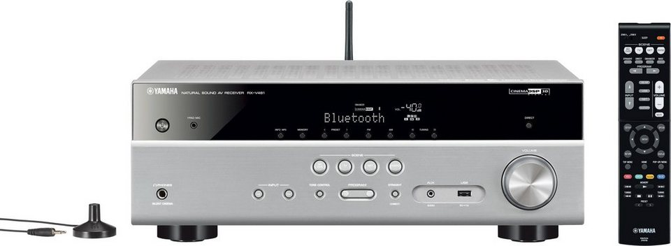 Yamaha RX-V481 DAB 5.1 AV-Receiver (Hi-Res, Spotify Connect, Airplay, WLAN, Bluetooth) in silber