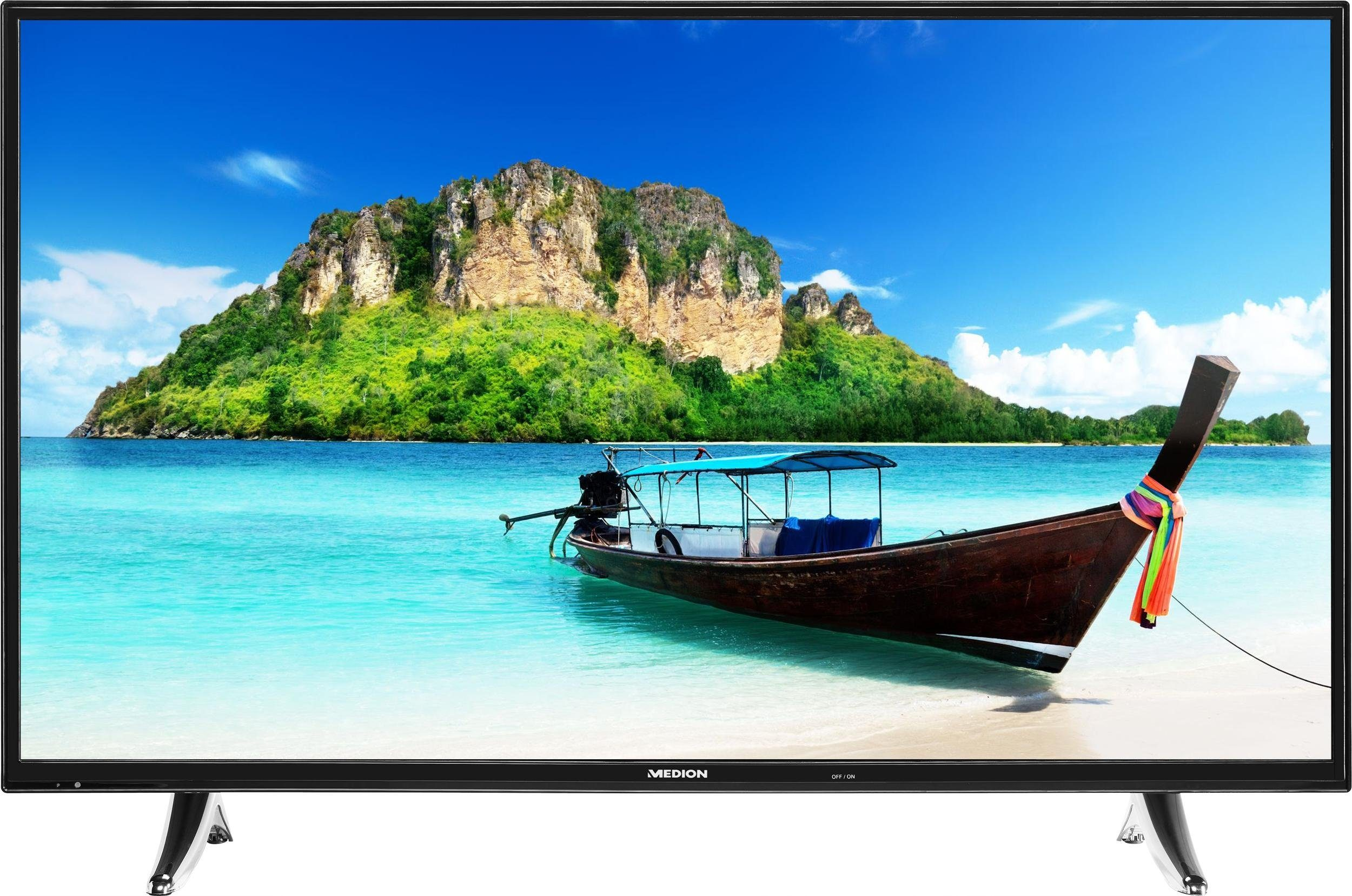 Medion® Life P18073 (MD 31094), LED Fernseher, 139 cm (55 Zoll), 1080p (Full HD), Smart-TV