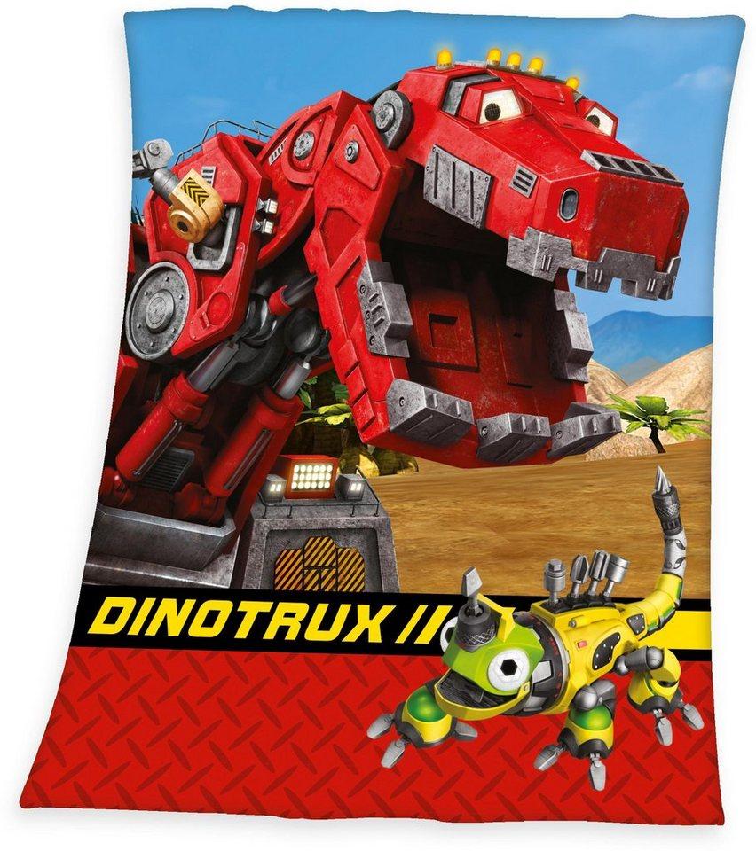 Kinderdecke, »Dinotrux«, mit Ty & Revvit in rot