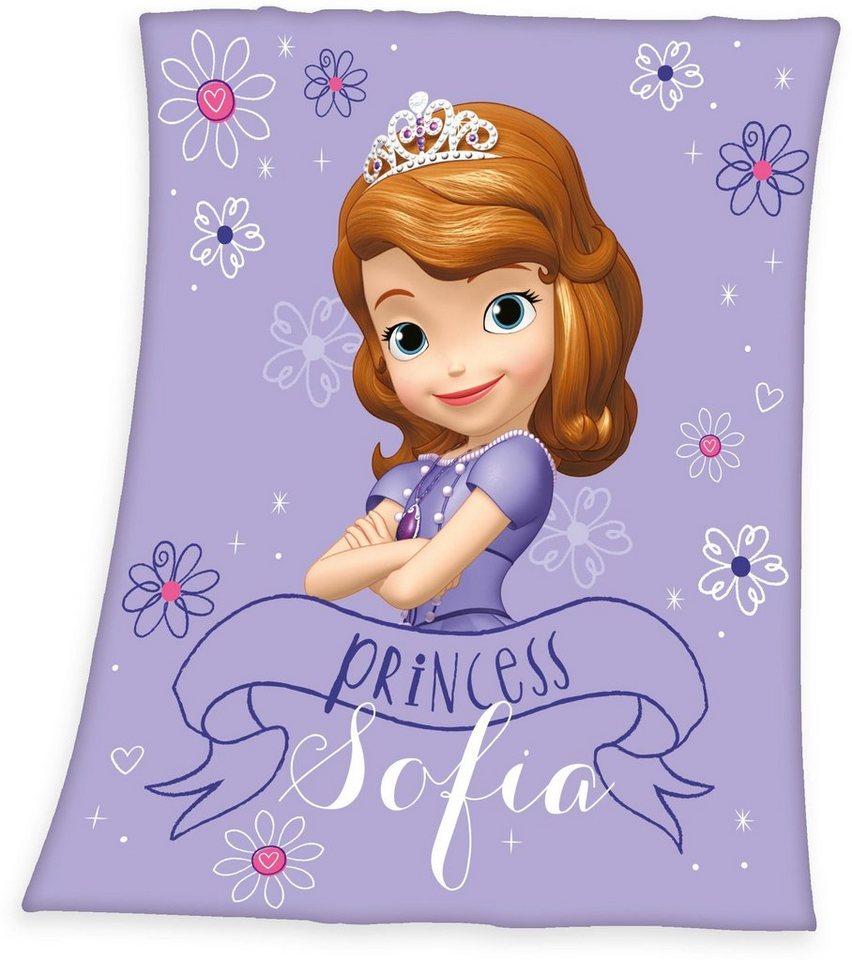 Kinderdecke, Disney, »Sofia die Erste«, mit Sofia-Motiv in lila