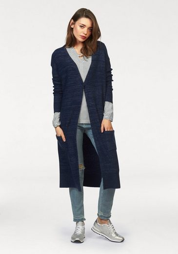 Cardigan En Maille Long Hilfiger En Denim, Aspect Marbré
