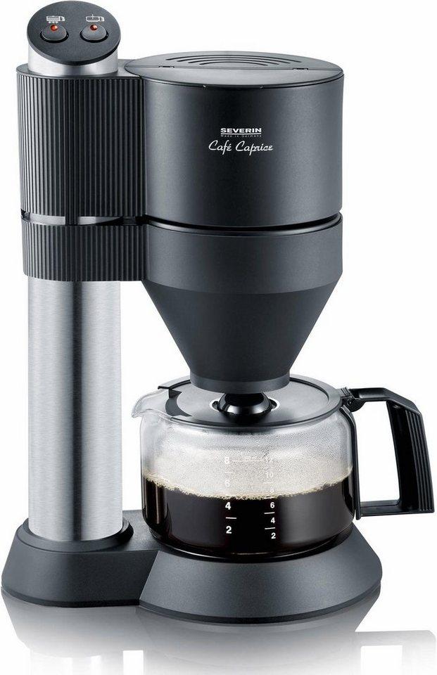 Severin Kaffeemaschine KA 5703, edelstahl gebürstet-schwarz in edelstahl-schwarz