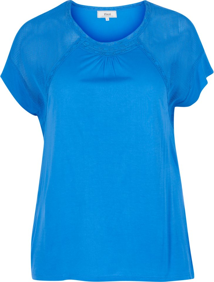 Zizzi T-Shirt in Palace Blue