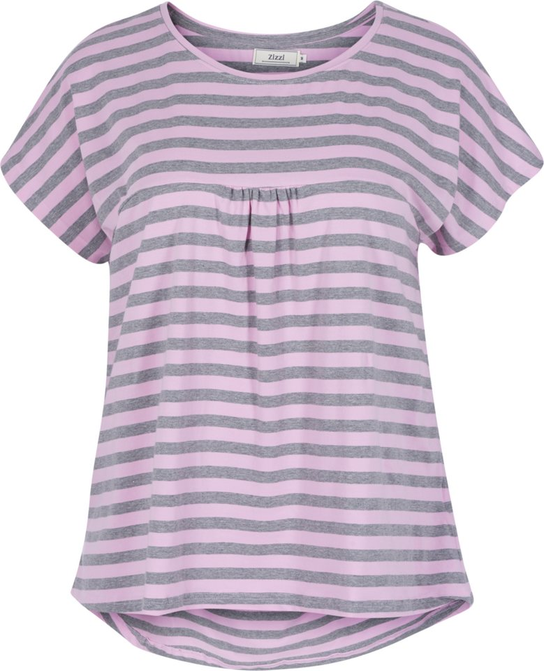 Zizzi T-Shirt in Pink Lavender/Grey Mel.