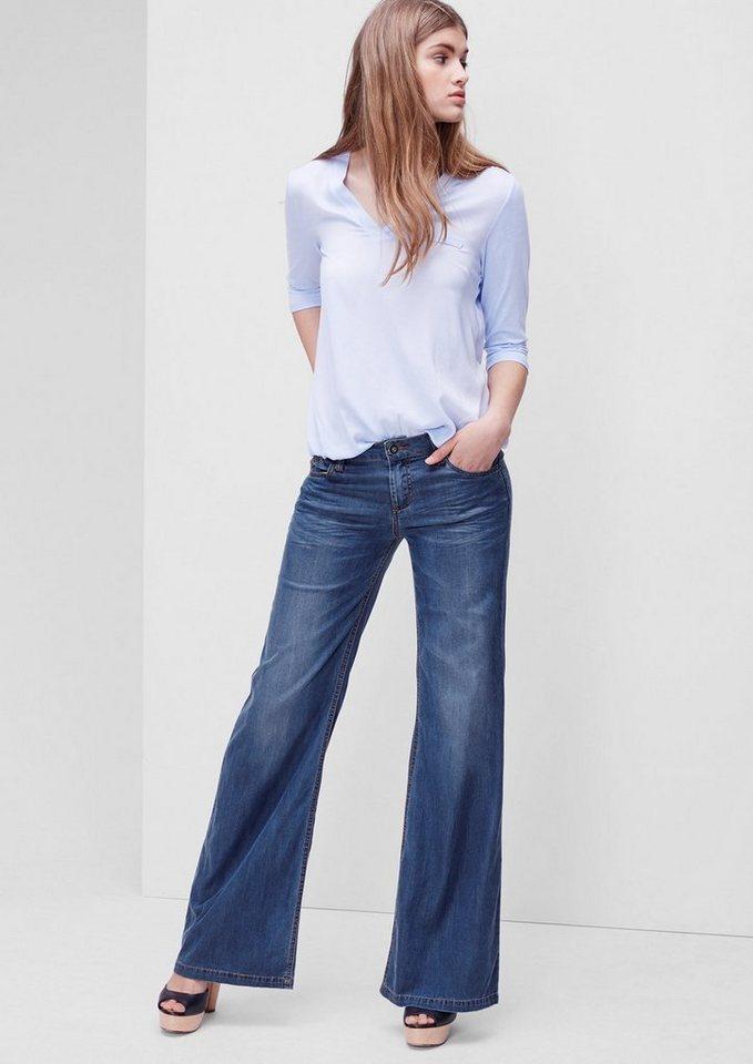s.Oliver RED LABEL Smart Wide: Fließende Jeans in blue denim stretch