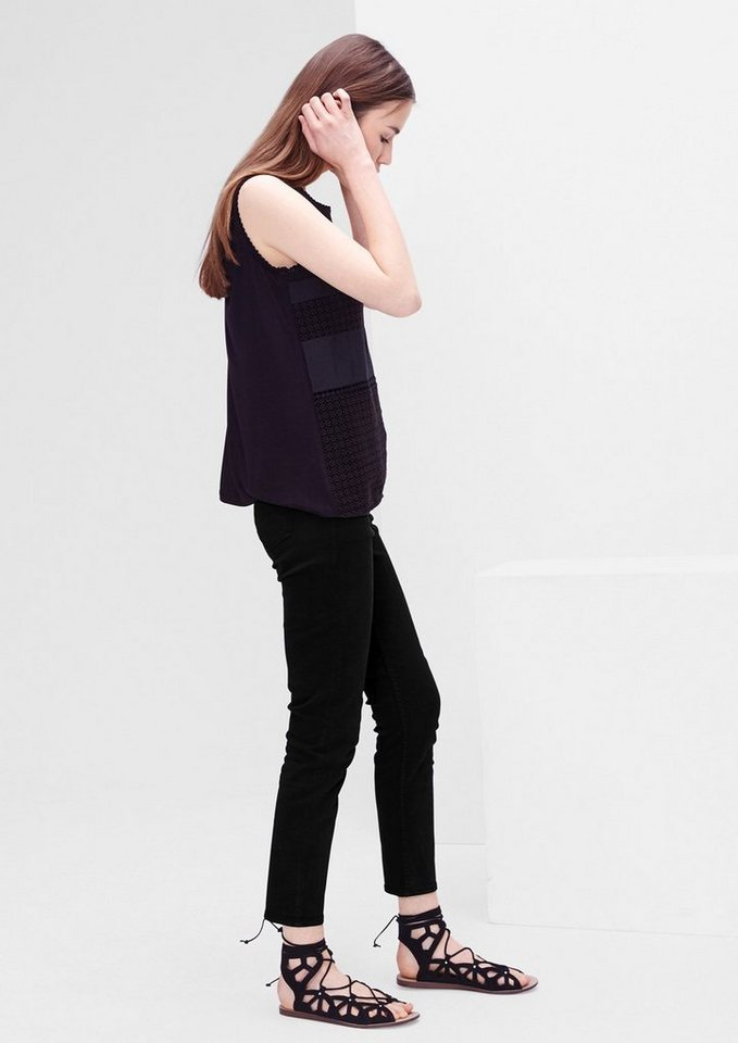 s.Oliver RED LABEL Shape Ankle: 7/8-Stretch-Jeans in black denim stretch