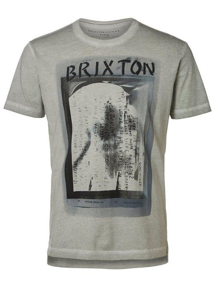 Selected Rundausschnitt T-Shirt in Blue Fox