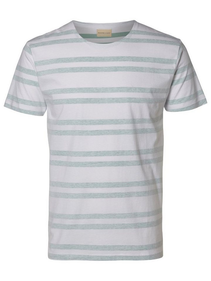 Selected Rundausschnitt T-Shirt in Blue Surf
