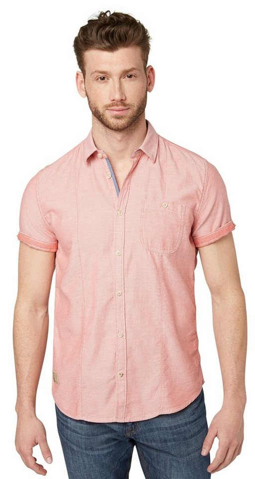 TOM TAILOR Hemd »Floyd sporty structure shirt« in normal red