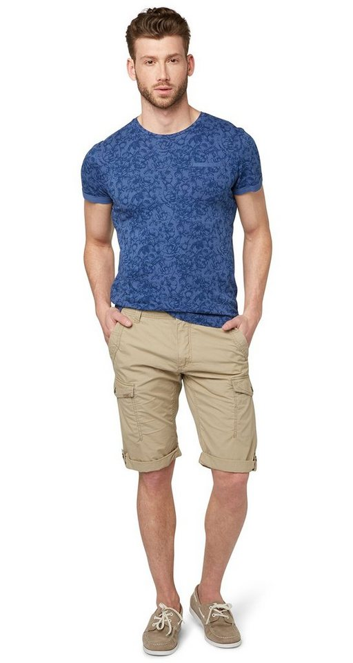 TOM TAILOR Shorts »Cargo Hose in Bermuda-Länge« in chinchilla