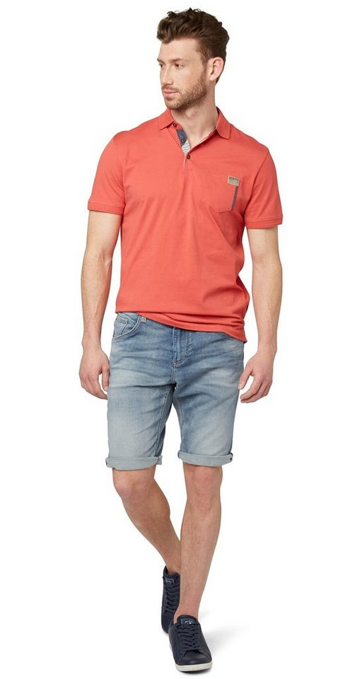 TOM TAILOR Shorts »kurze Jeans im Used-Look« in light stone wash den