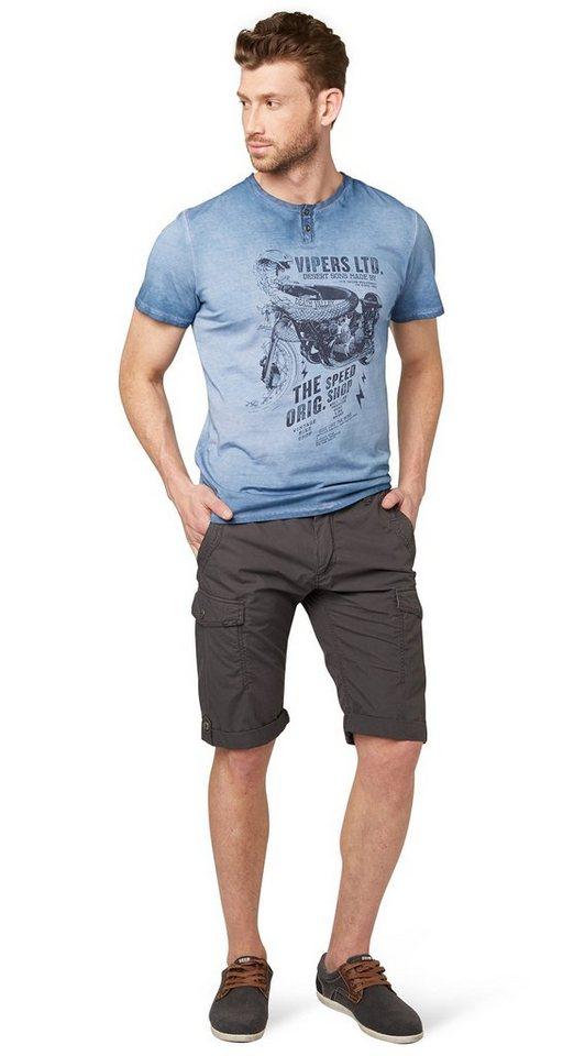 TOM TAILOR Shorts »Cargo Hose in Bermuda-Länge« in tarmac grey