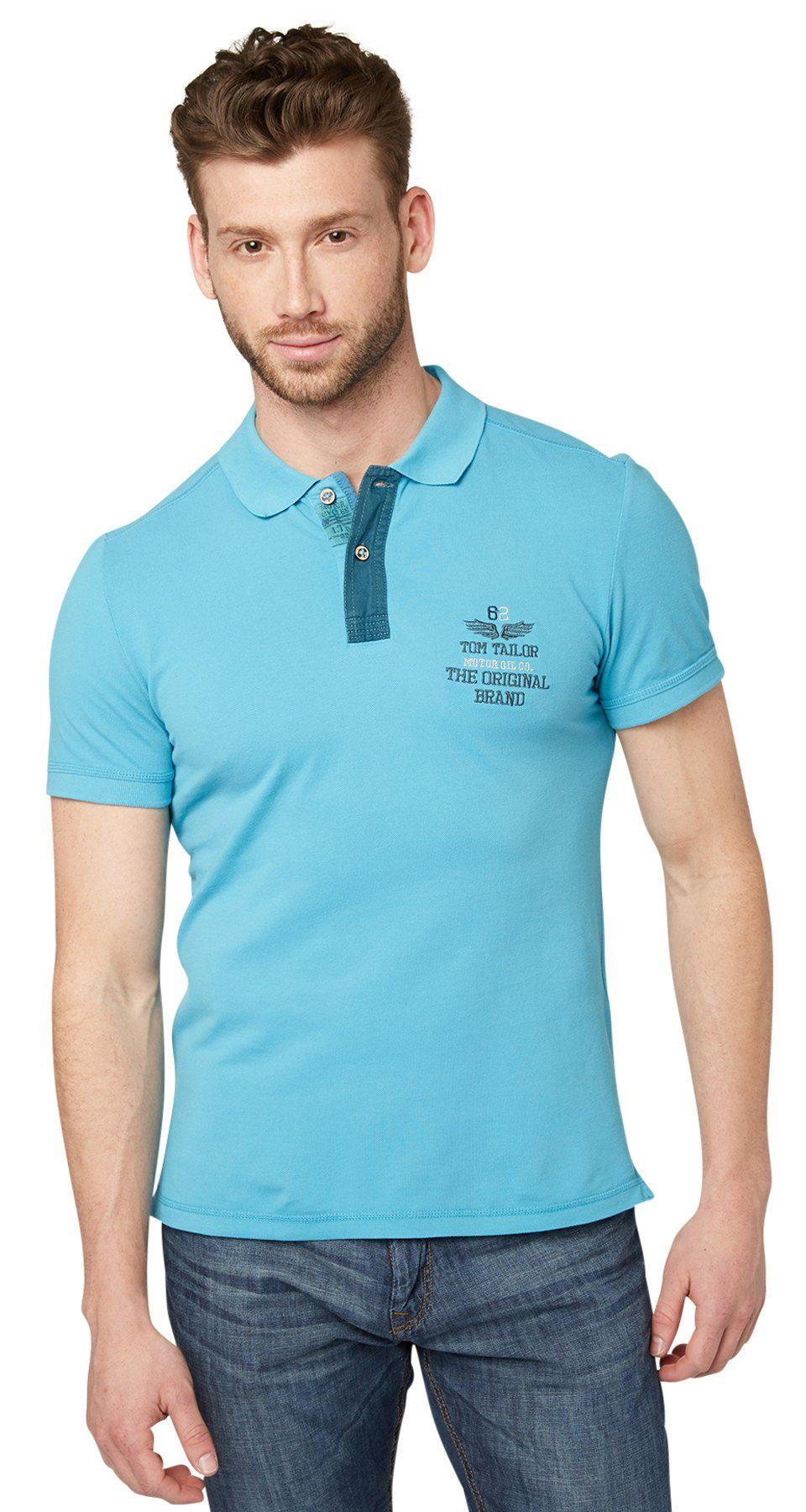 TOM TAILOR Poloshirt »Polo-Shirt mit Stickerei«
