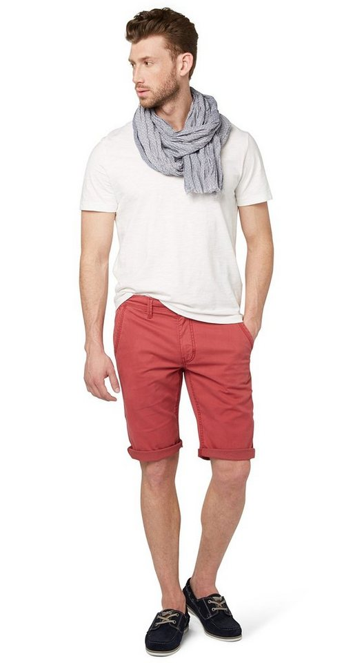 TOM TAILOR Shorts »Chino-Bermuda mit Muster-Detail« in burnt russet