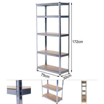 Grafner Schwerlastregal »Schwerlastregal 1,72m Werkstattregal auf 5 Ebenen 375kg Traglast«, Testsieger mit der Note 1,8