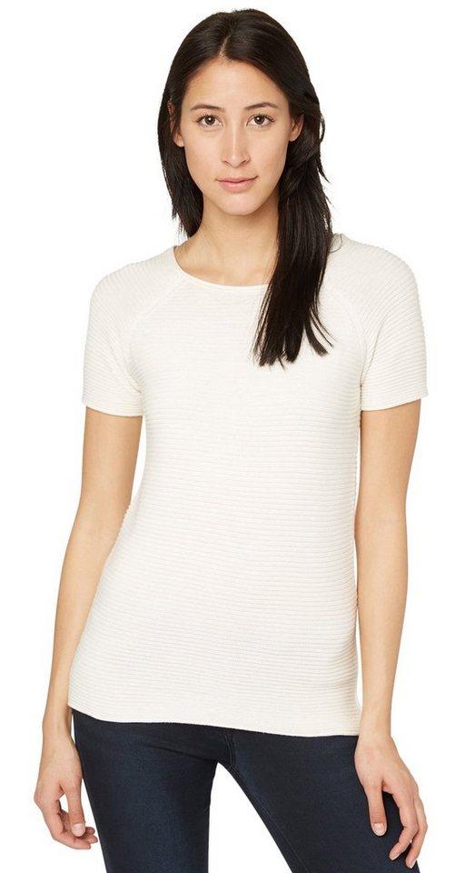TOM TAILOR Pullover »strukturierter Strick-Pullover« in whisper white