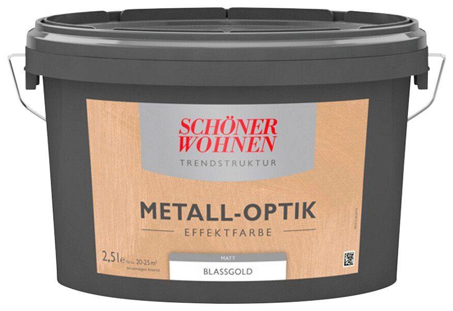 SCHÖNER WOHNEN FARBE Spezialfarbe »Metall-Optik Effektfarbe blassgold«, 2,5 l