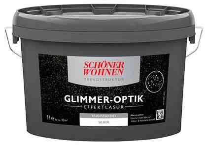 Schöner Wohnen Farbe Wohnraumlasur »Glimmer-Optik Effektlasur 1,0L silber«