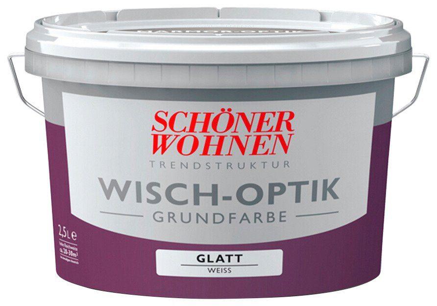 SCHÖNER WOHNEN FARBE Grundierfarbe »Wisch-Optik«, weiss, glatt, 2,5 l